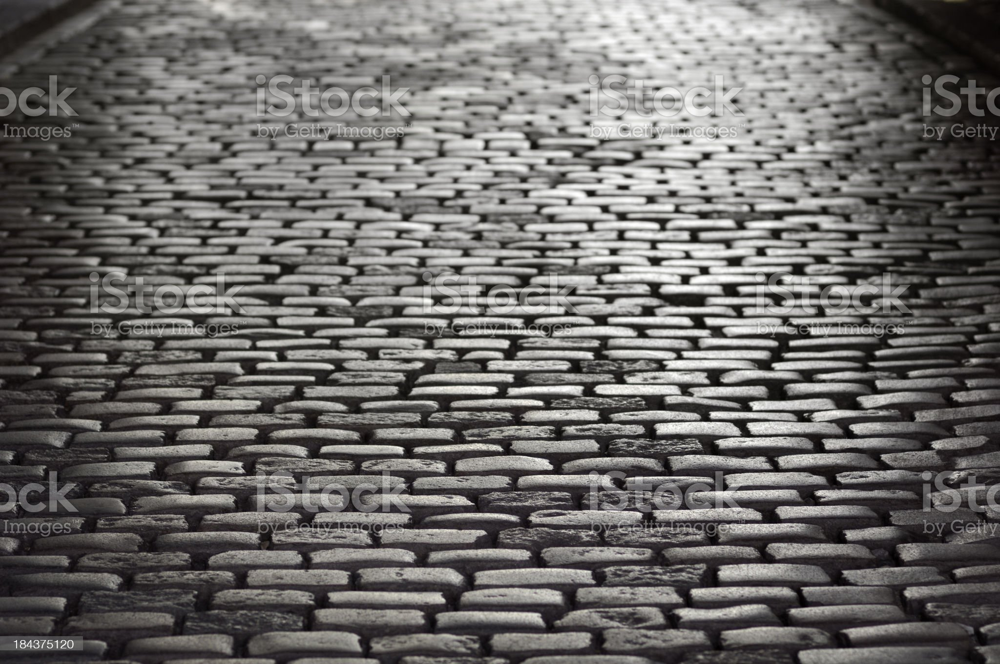 High contrast cobblestone background royalty-free stock photo