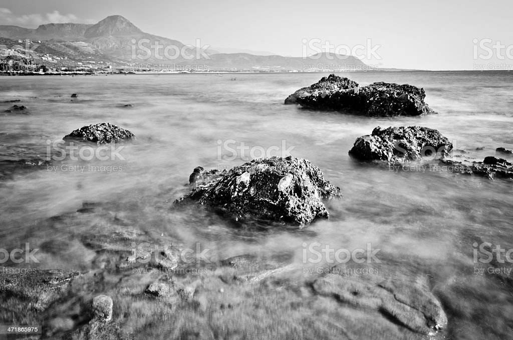 High contrast sea view in Crete, Greece royalty-free stock photo