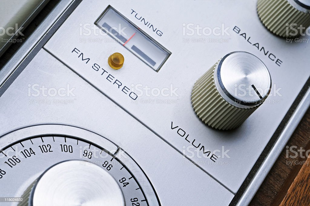 High Contrast Stereo Receiver stock photo