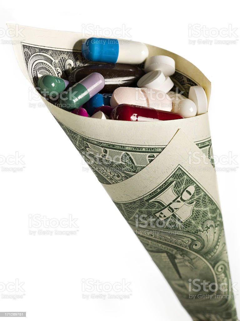High Cost of Healthcare stock photo