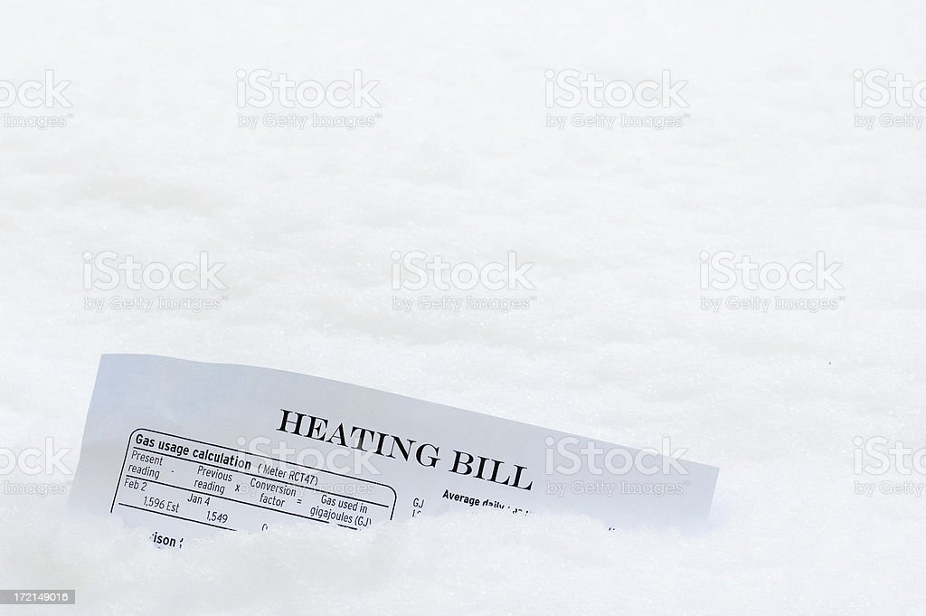 High Cost of Heating stock photo