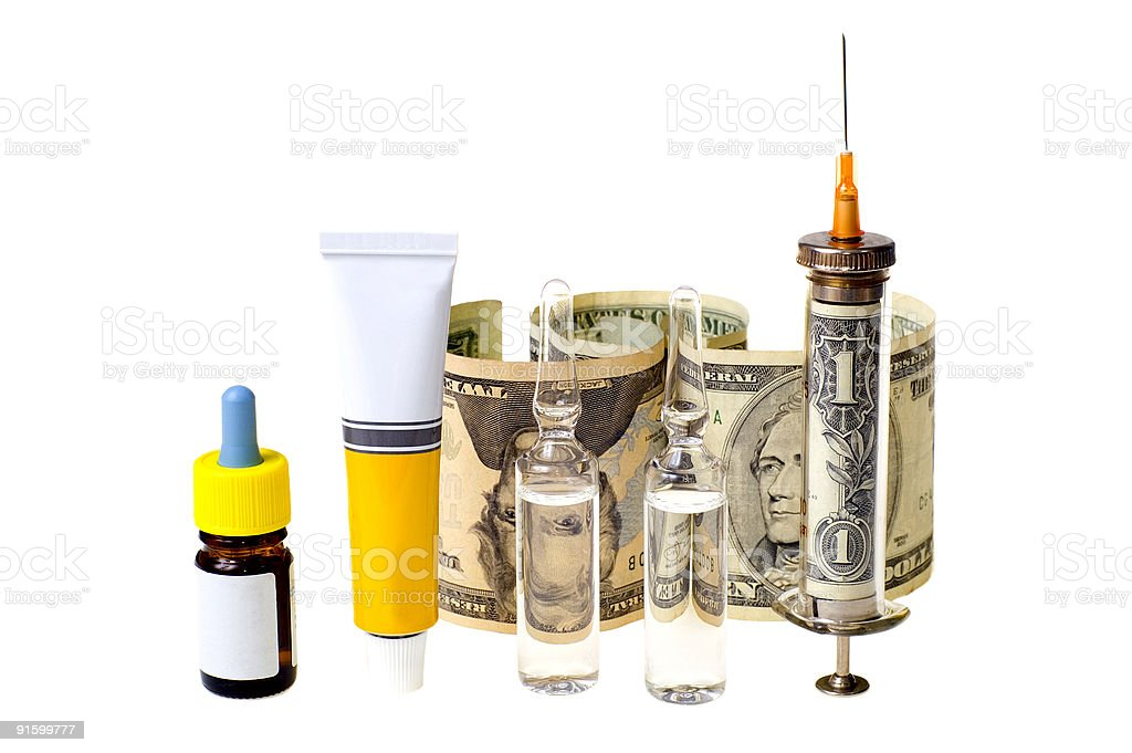 High cost of treatment royalty-free stock photo