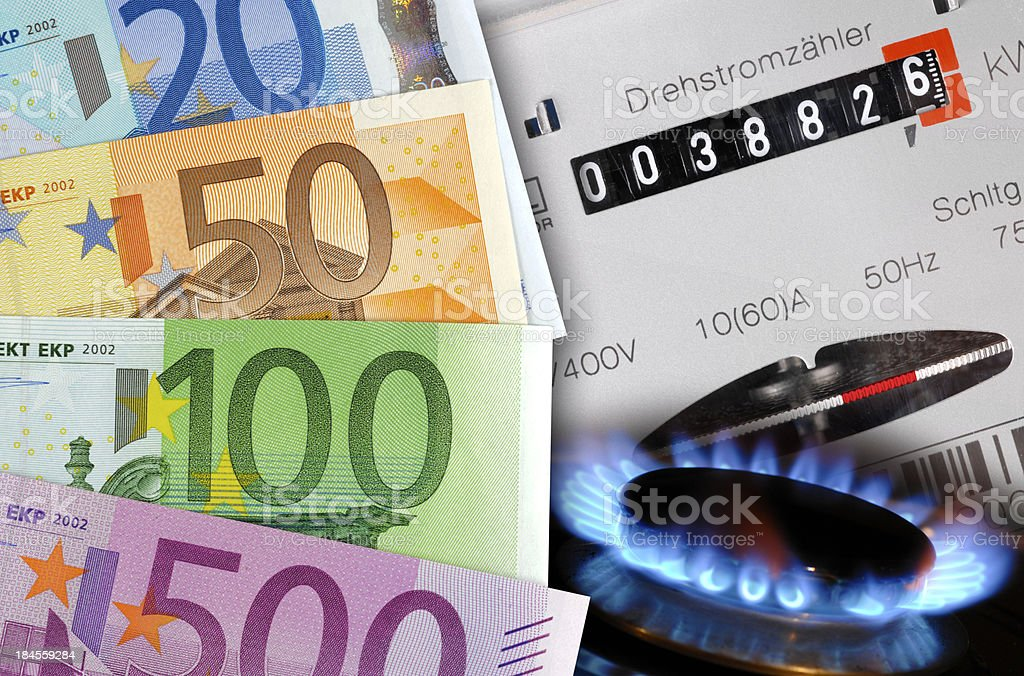 high costs for energy royalty-free stock photo