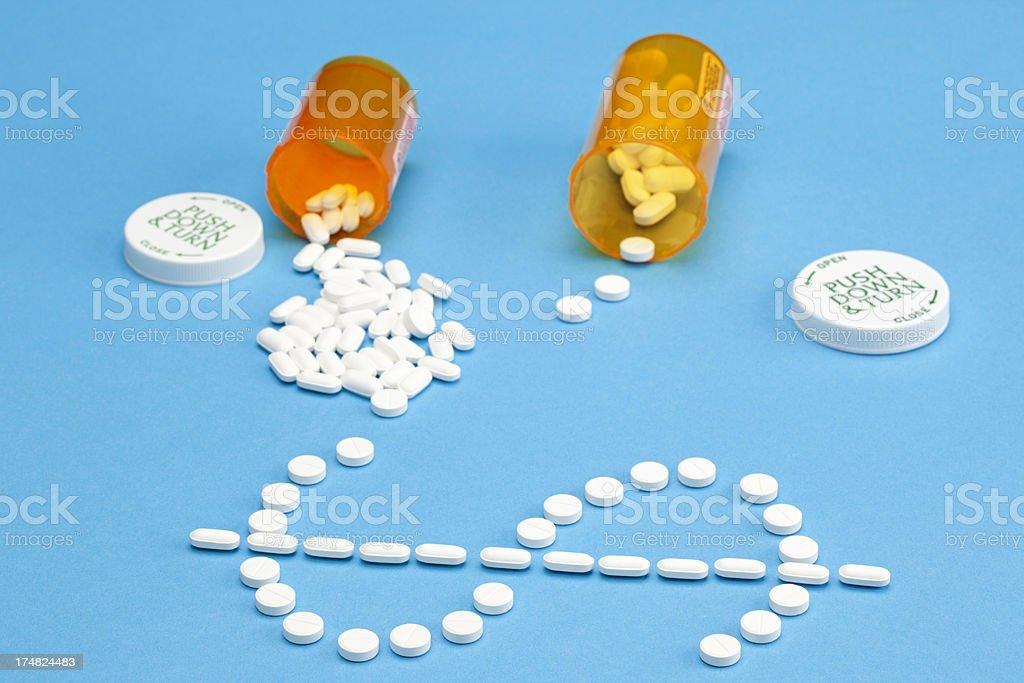 High Costs of Prescription Medicine or Healthcare royalty-free stock photo
