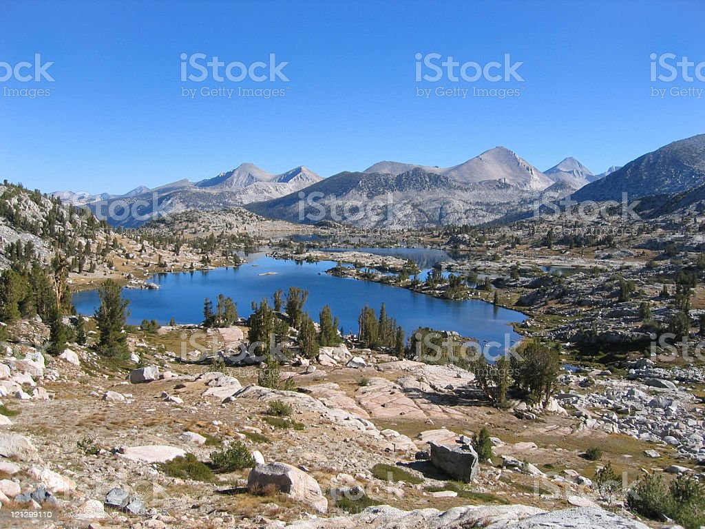 High Country Lake stock photo