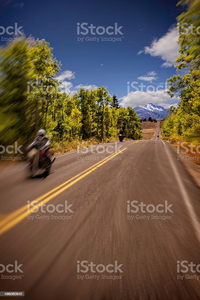 High Country Motorcyle Touring. stock photo