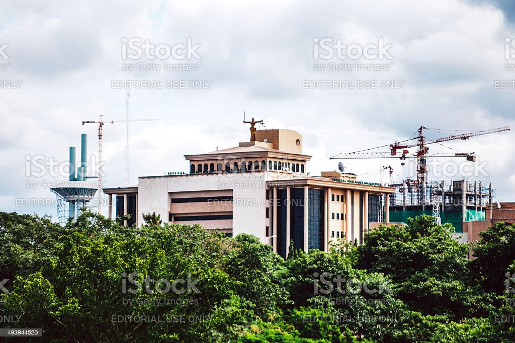 High Court government building in Abuja, Nigeria. stock photo