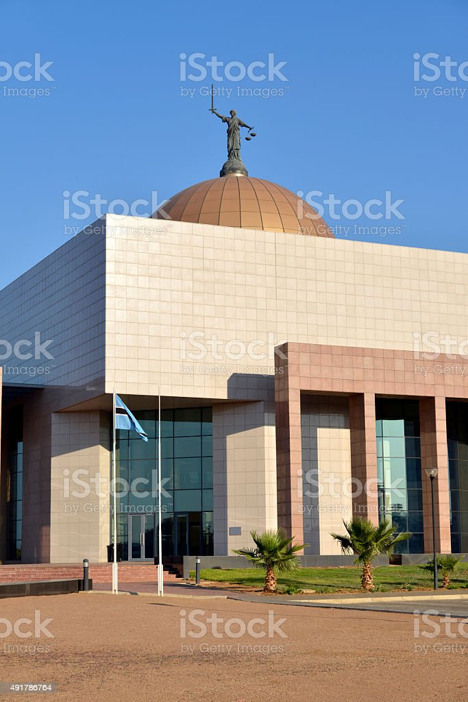 High court of Botswana. Gabarone. stock photo