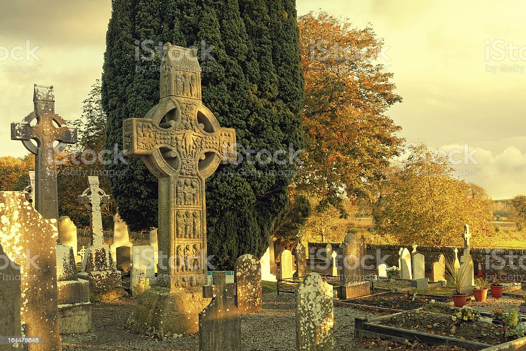 high cross in Monasterboice stock photo