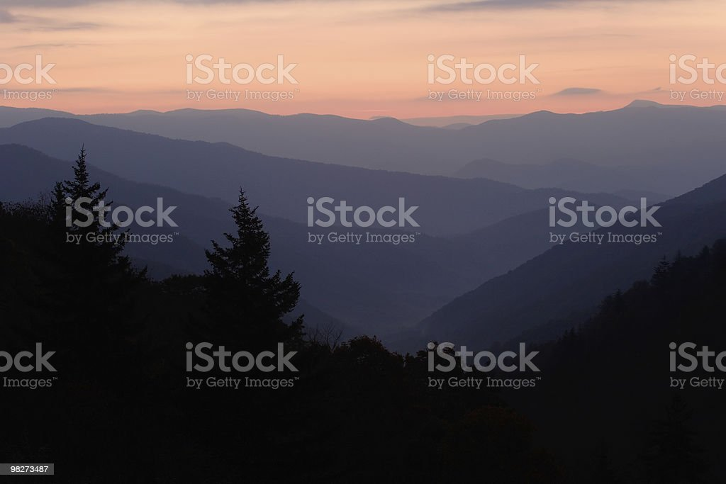 High Dawn in the Smoky Mountains royalty-free stock photo