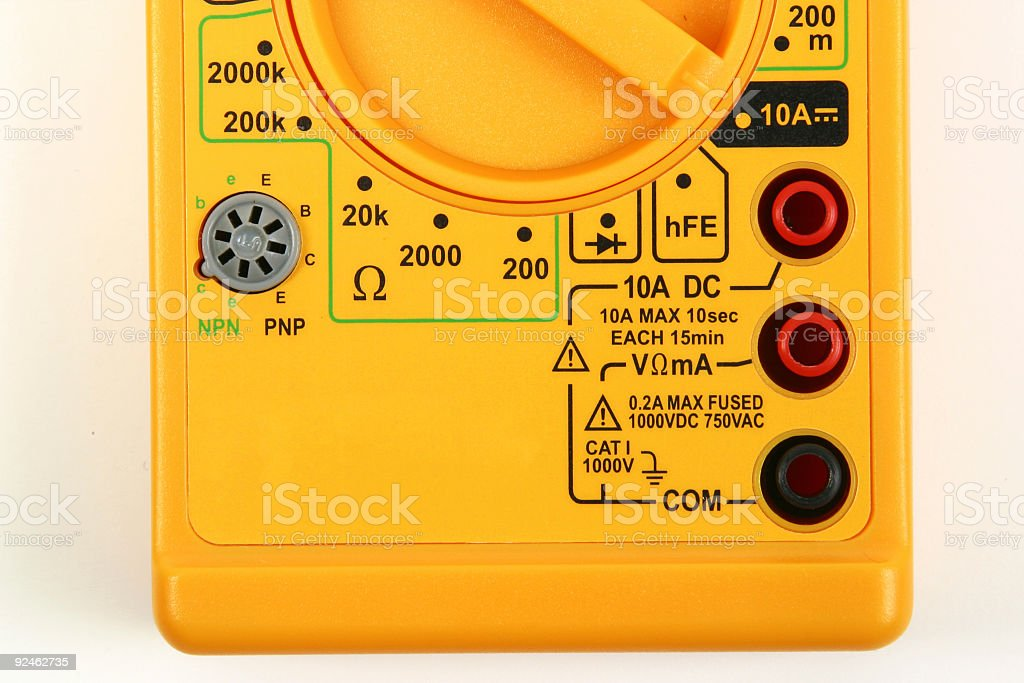 High DC Current Connections Detail stock photo