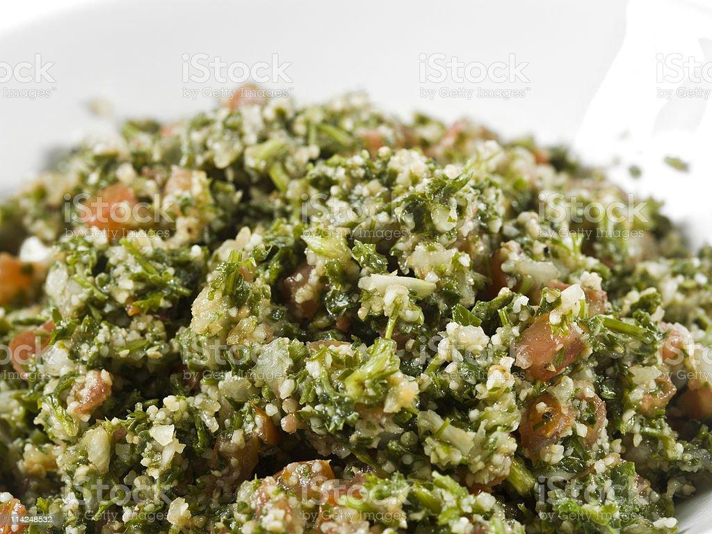 High Def Organic Tabbouleh Salad royalty-free stock photo