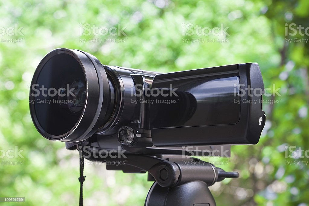 High definition camcorder stock photo