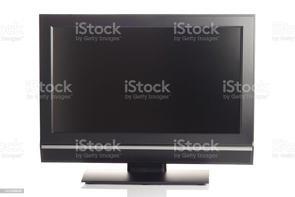 LCD high definition flat screen TV stock photo