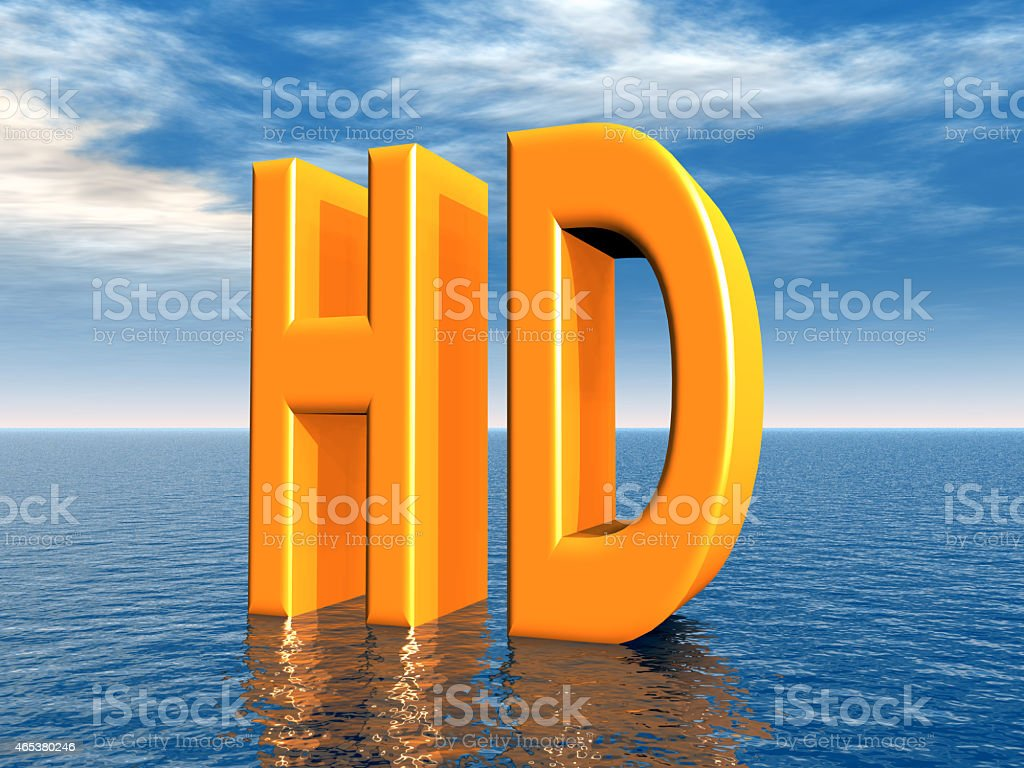 HD - High Definition stock photo
