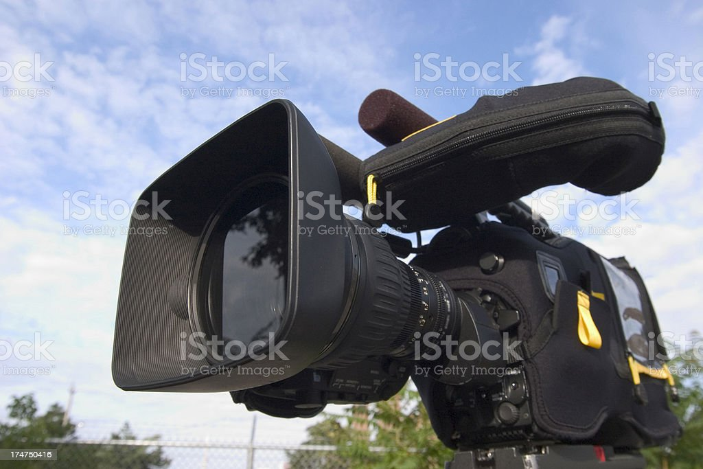 High Definition Professional Video Camera stock photo
