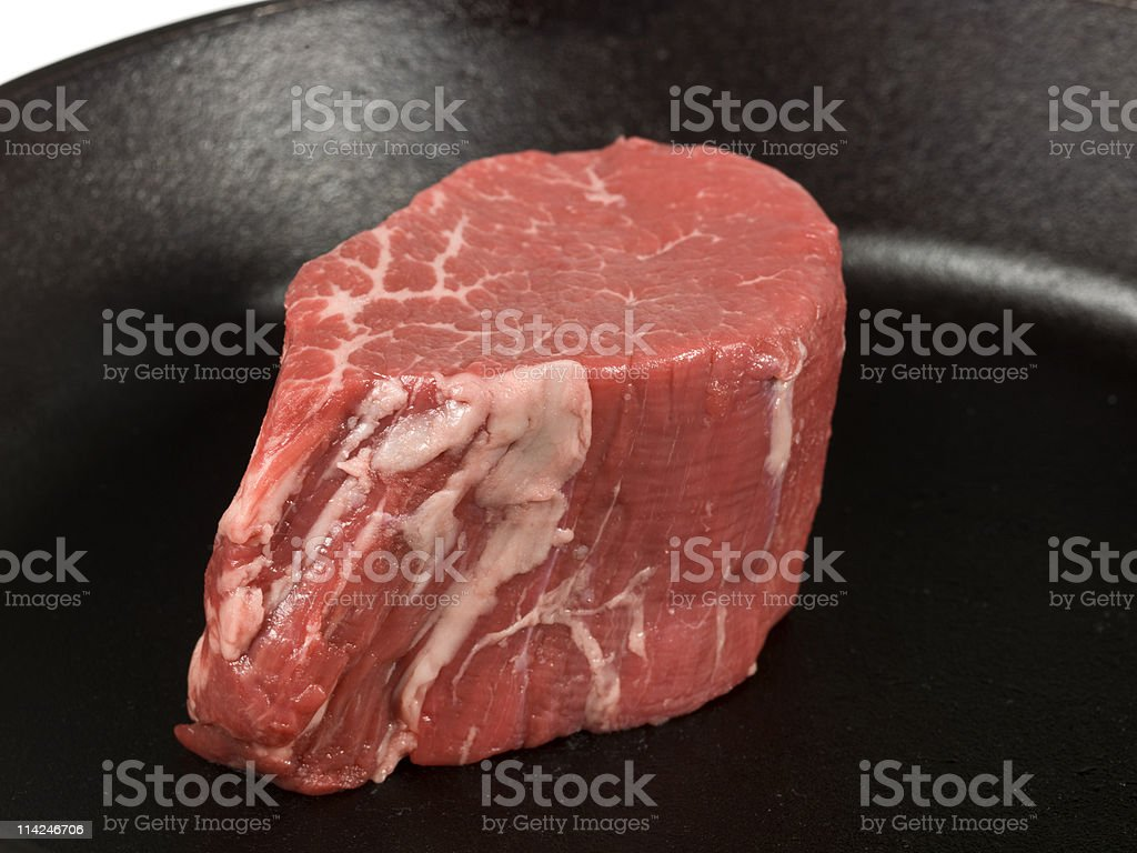 High Definition Raw Tall Beef Filet stock photo