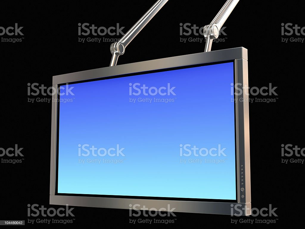 High Definition TV with Metal Frame royalty-free stock photo