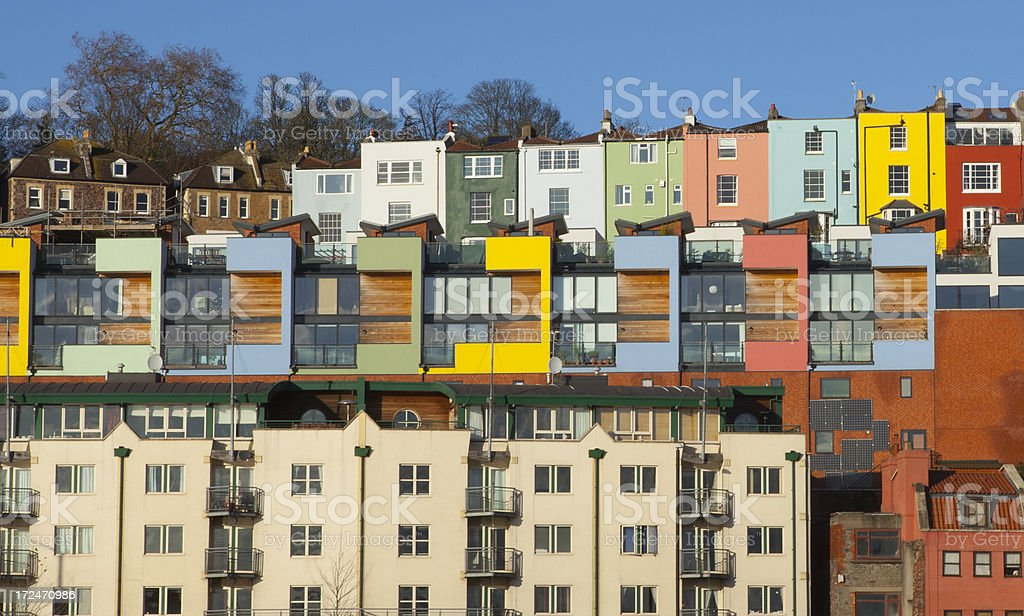High Density Living in Bristol, UK stock photo