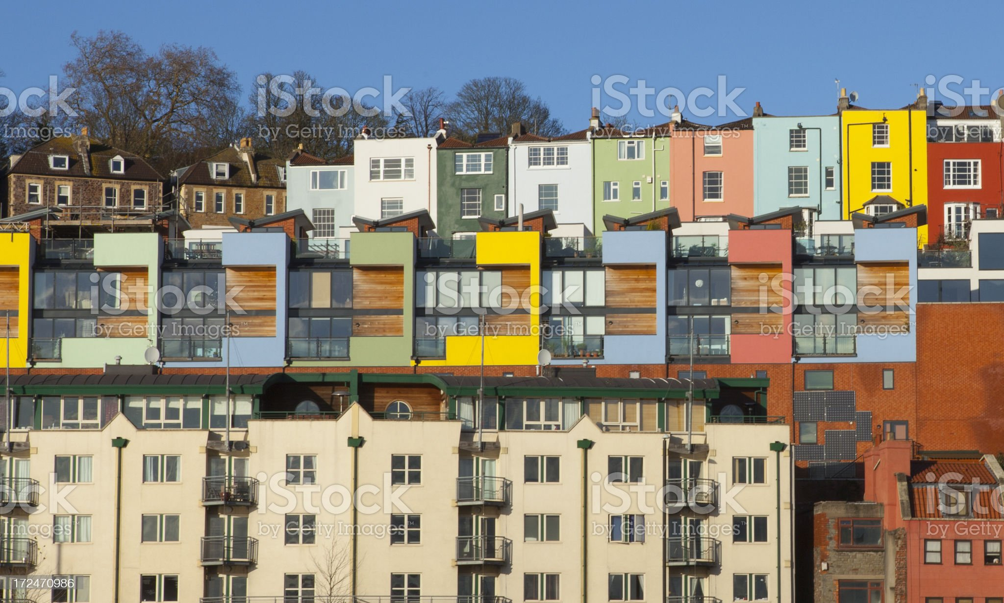 High Density Living in Bristol, UK royalty-free stock photo