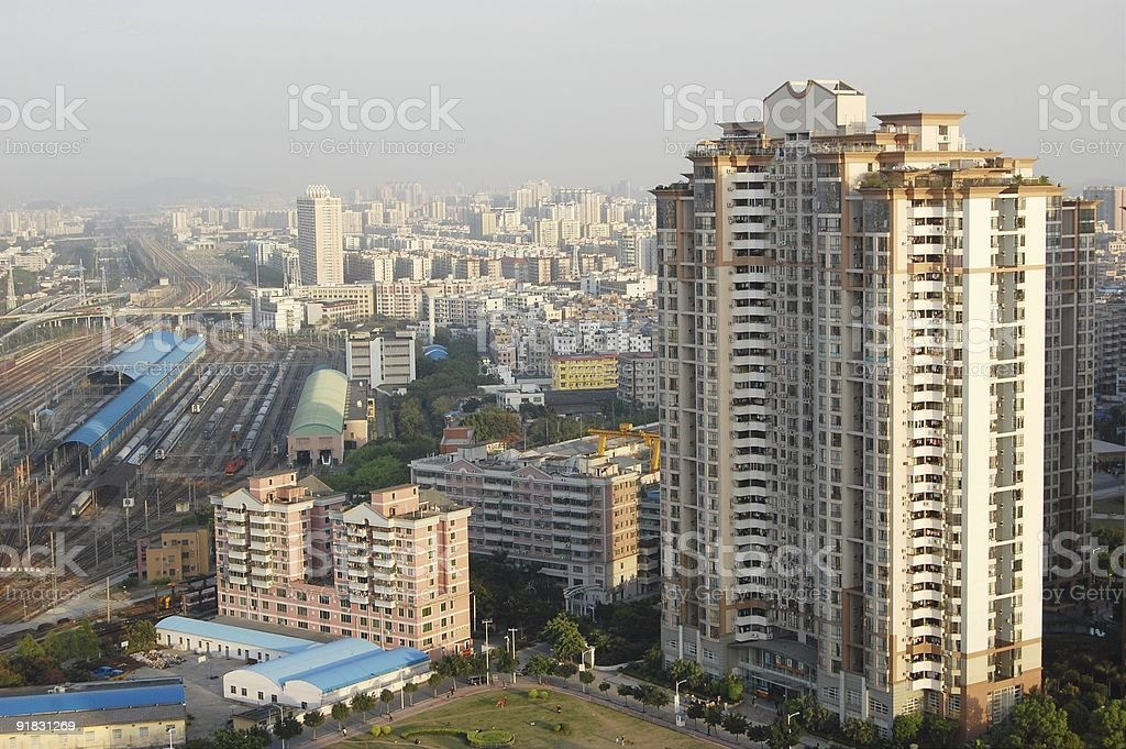 High density residential apartments royalty-free stock photo