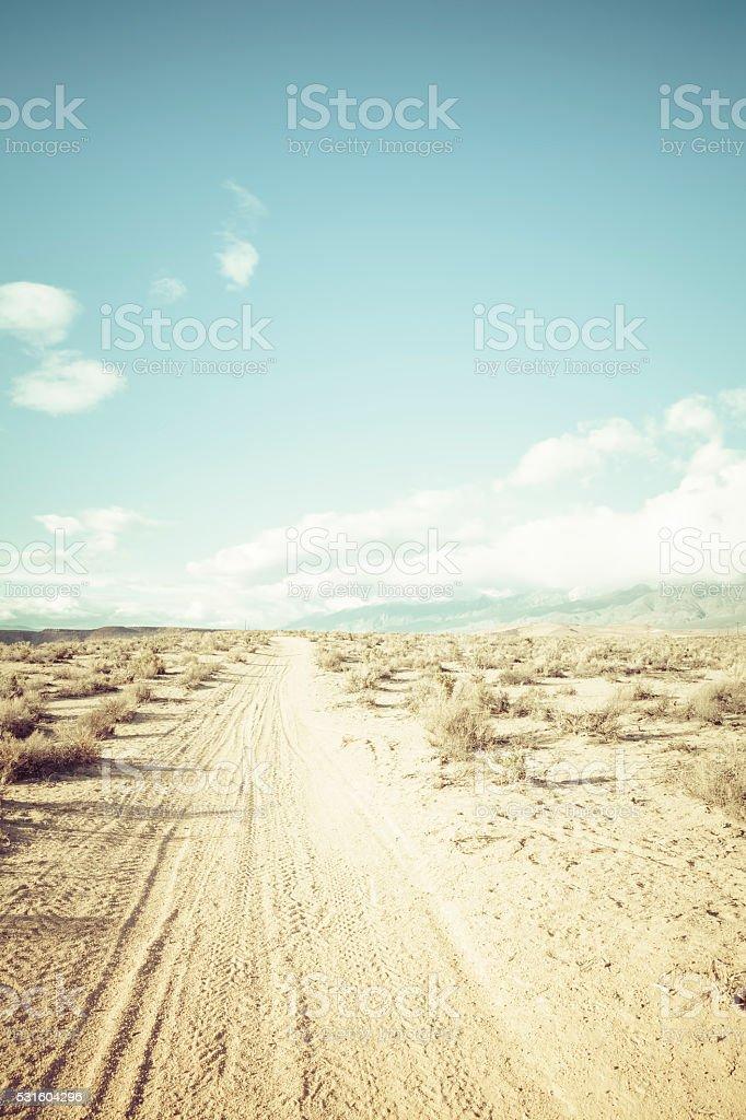 High desert dirt road stock photo