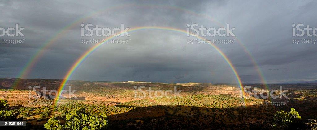 High desert rainbow stock photo