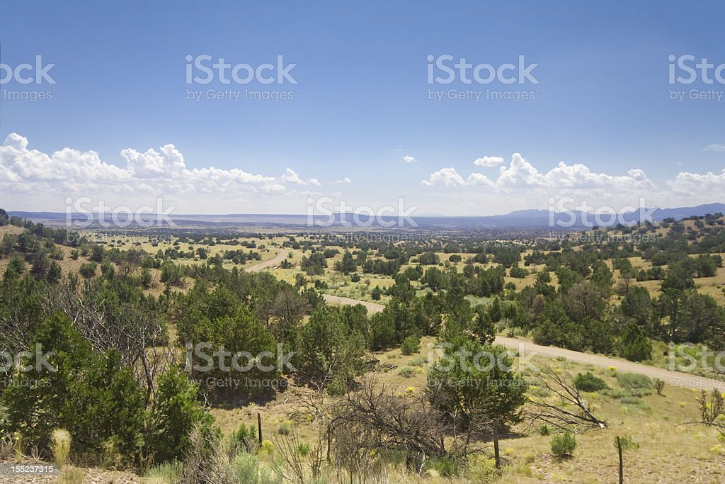 High Desert South of Santa Fe, New Mexico royalty-free stock photo