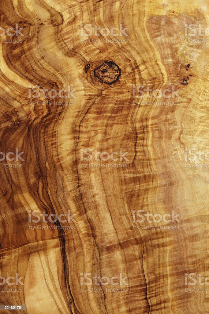 high detailed texture of olive wood board stock photo