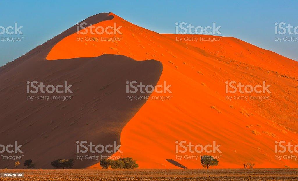 High dune in Namib-Naukluft NP stock photo