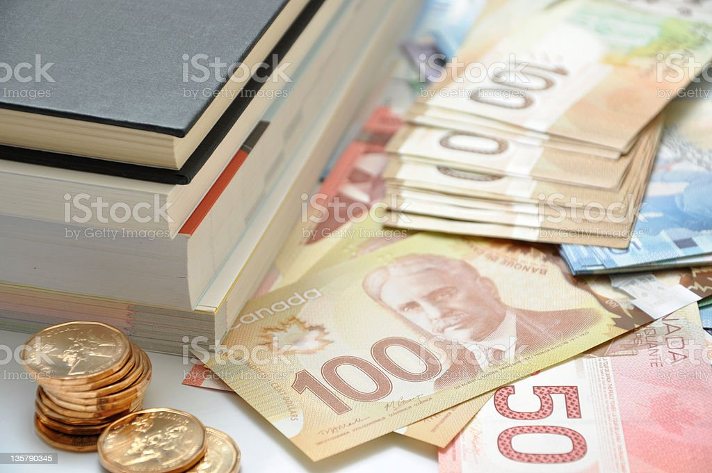 High education fee costs money stock photo