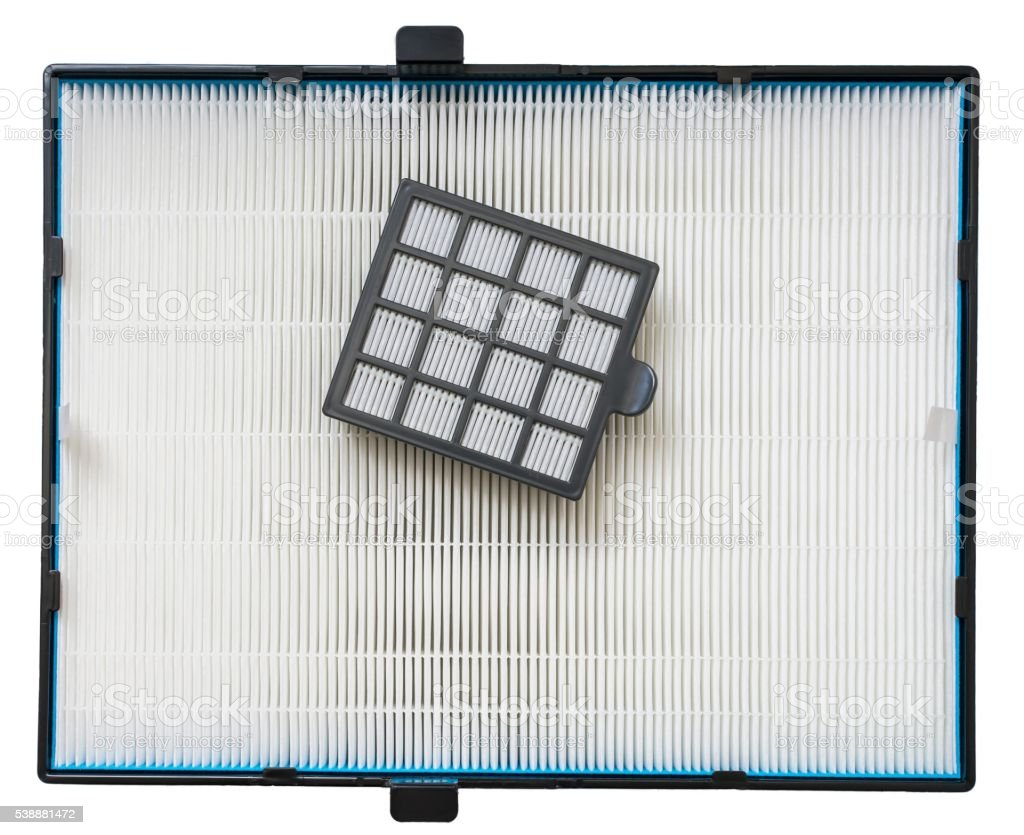 High efficiency dust filters for air purifuer. stock photo