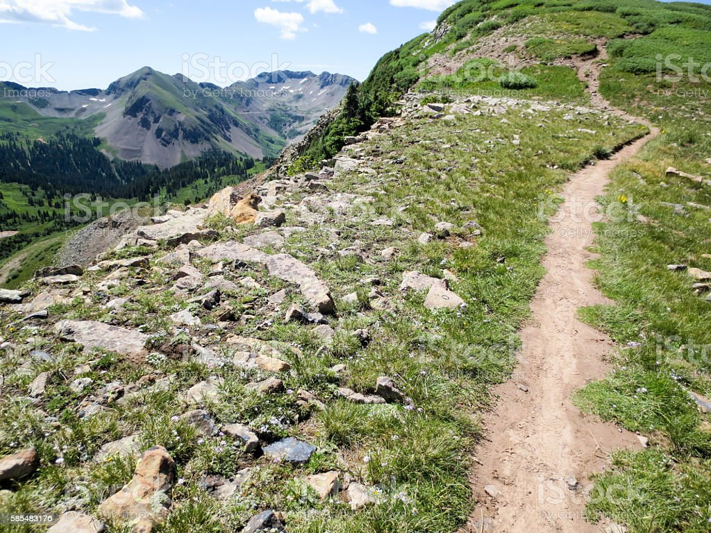 High elevation portion of the Colorado trail stock photo