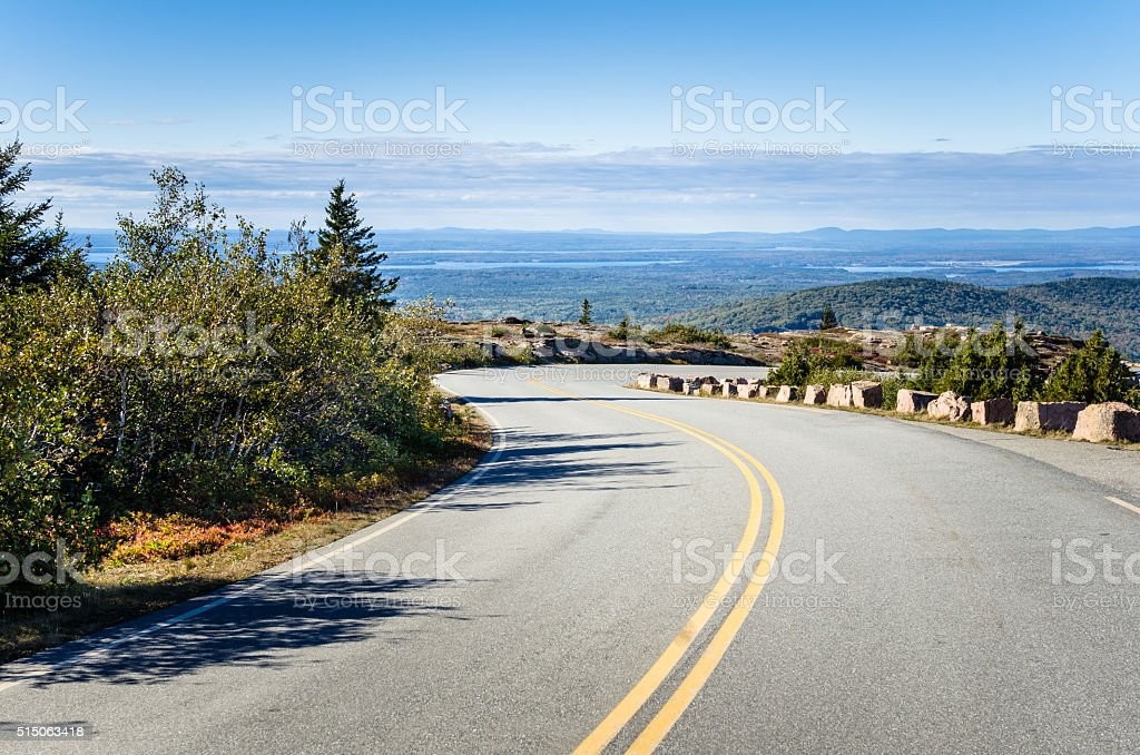 High Elevation Winding Road stock photo