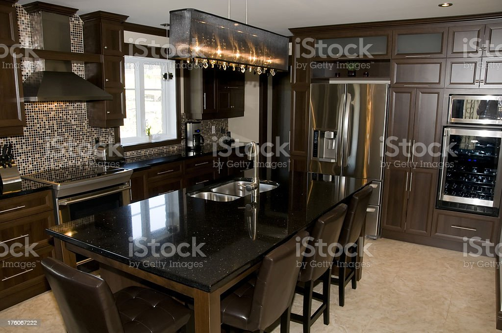 High end kitchen royalty-free stock photo