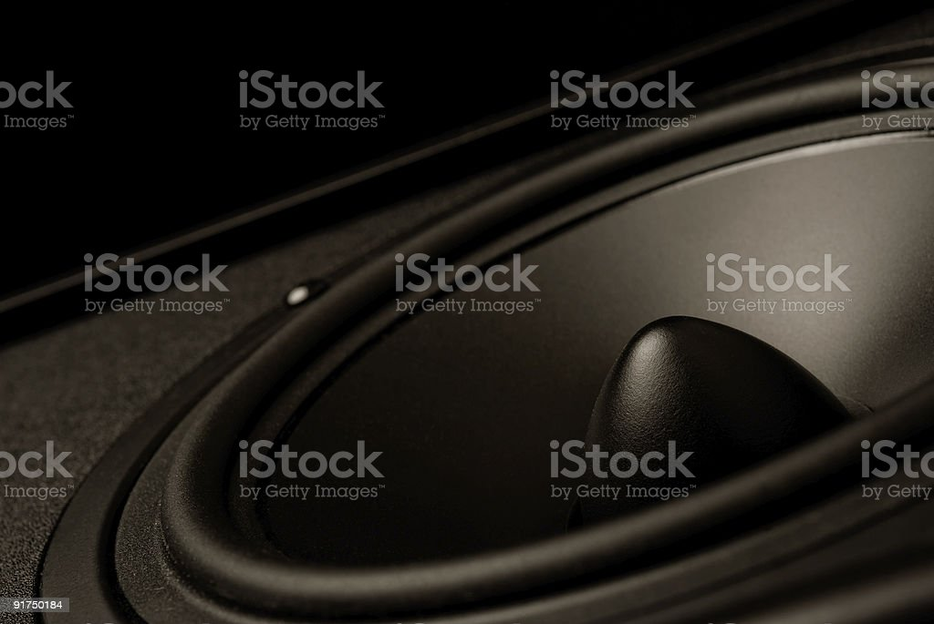 High end laudspeaker close-up. stock photo