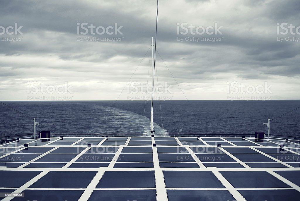 High end photovoltaik on a cruise liner royalty-free stock photo