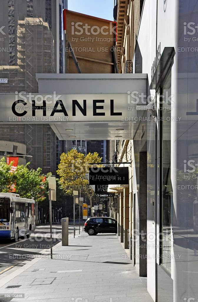 High end shopping, Sydney stock photo