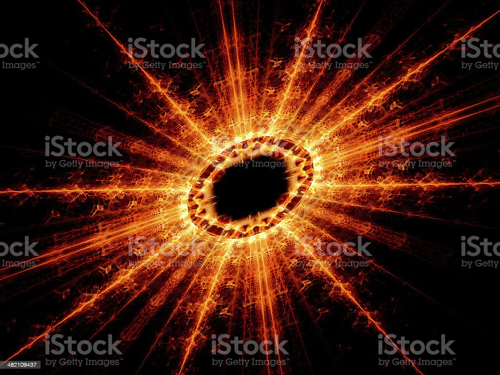 High energy nuclear fission royalty-free stock photo