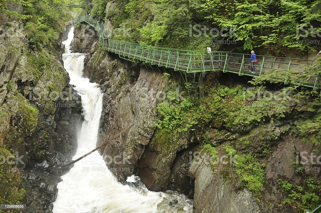 High Falls Gorge, NY stock photo