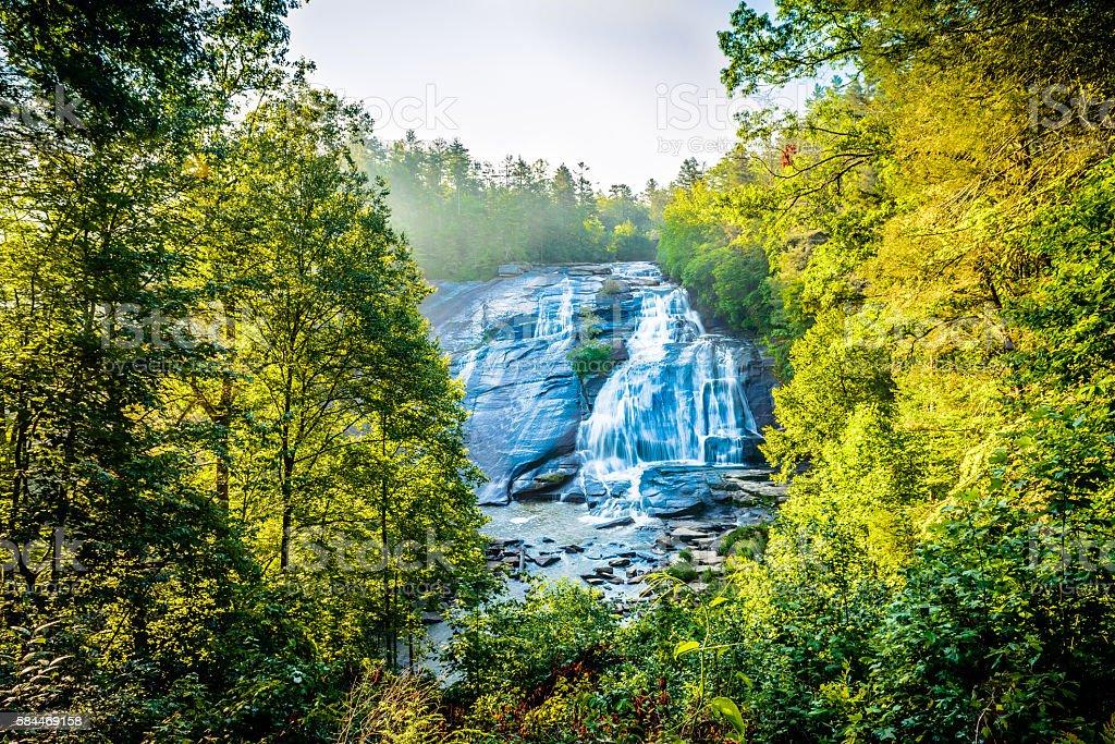 High Falls in western North Carolina at Dupont stock photo