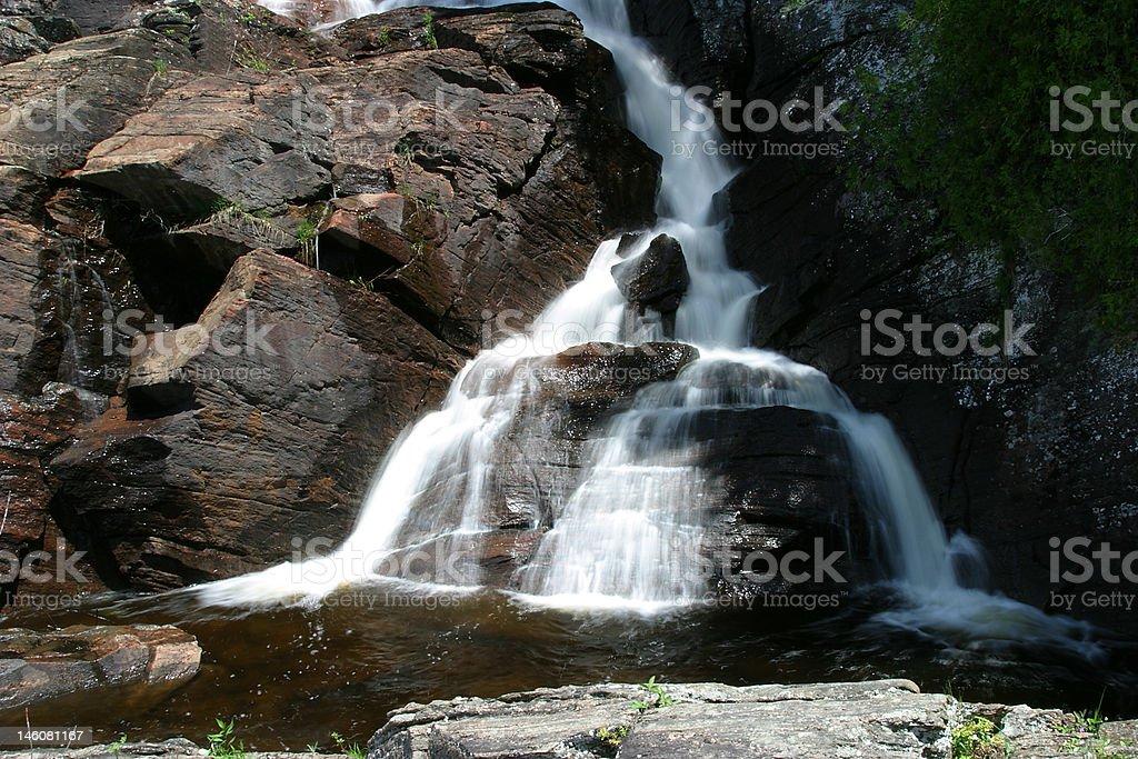 High Falls, Muskoka River stock photo