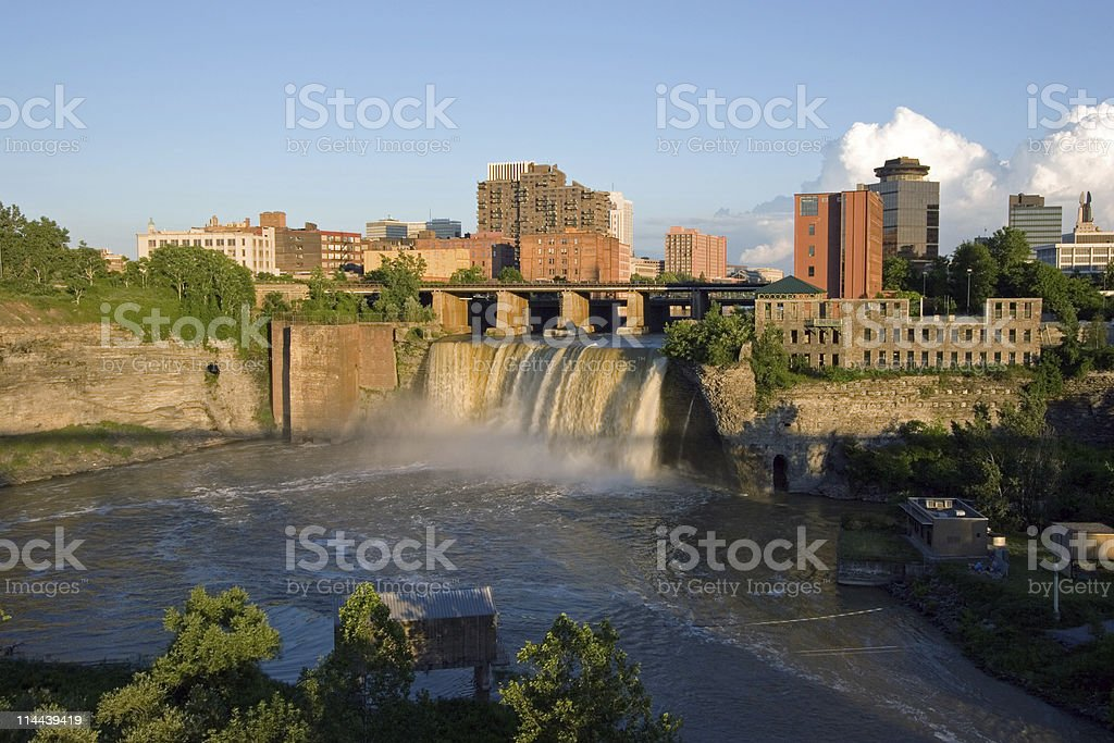 High Falls on the Genesee, Rochester, New York stock photo