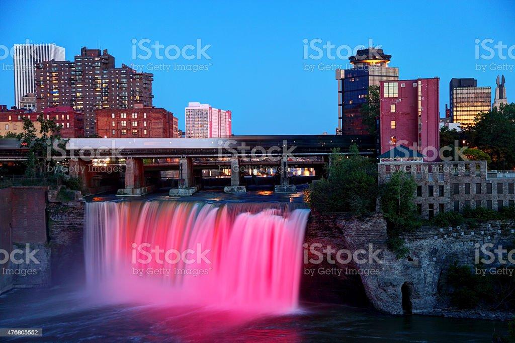 High Falls Rochester New York stock photo