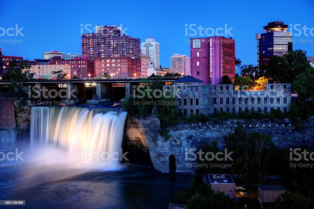 High Falls Rochester, New York stock photo