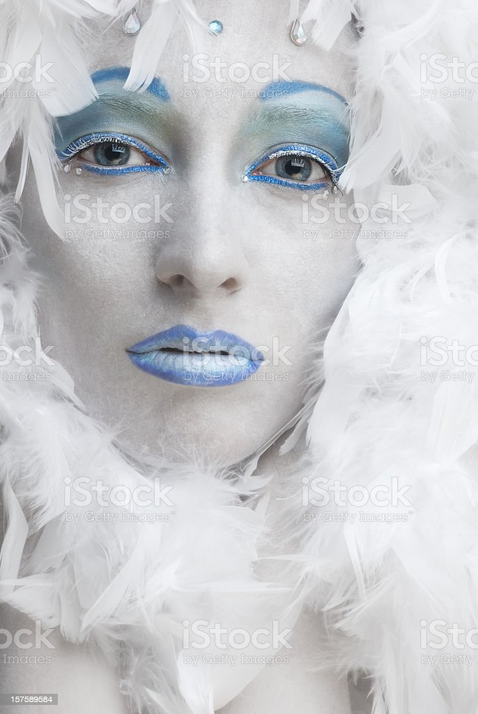 High fashion: ice queen stock photo