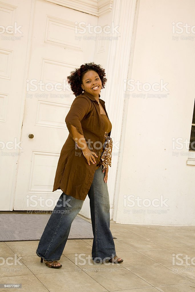 High Fashion woman in jeans royalty-free stock photo