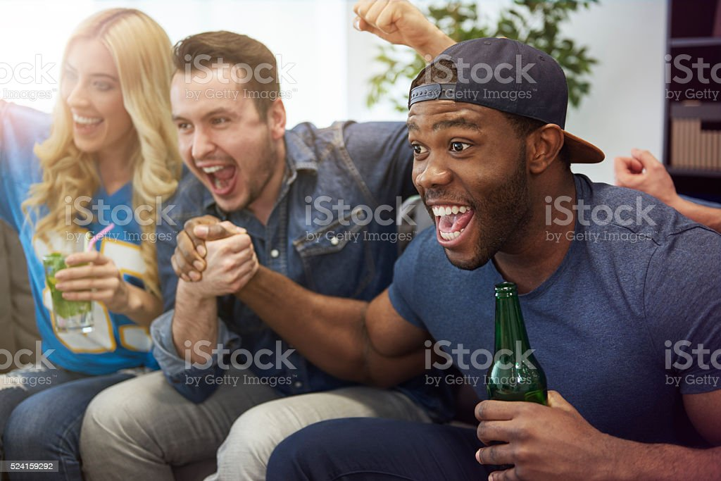 High five because we are winning stock photo