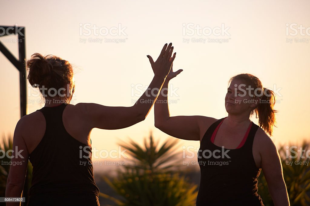High Five! stock photo