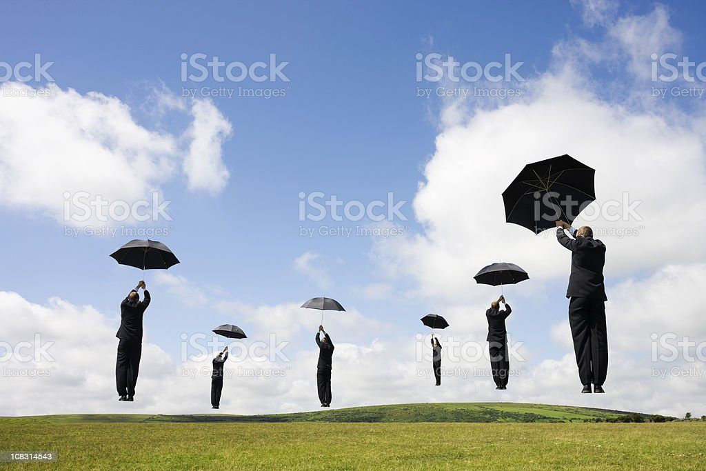 High flying businessmen royalty-free stock photo